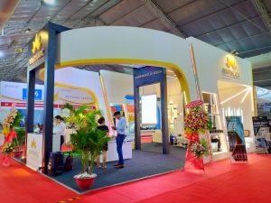 Gian hàng ánh sáng An Phước tại hội chợ VietBuild là một trong những gian hàng nổi bật nhất tại triển lãm