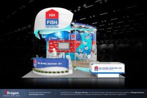 Thiết kế gian hàng triển lãm VietFish