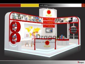 thiết kế gian hàng triển lãm