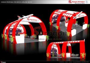 thiết kế gian hàng hội chợ