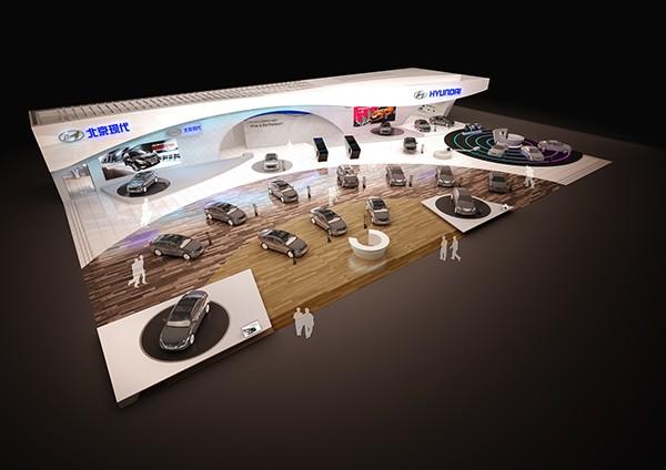 thiết kế gian hàng hội chợ triển lãm VietNam Motorshow
