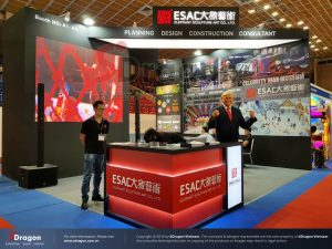 exhibition booth is constructed by SDragon company
