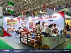 thiết kế gian hàng triển lãm Vietnam Foodexpo
