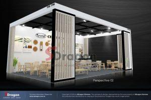 thiết kế gian hàng triển lãm gỗ nội thất