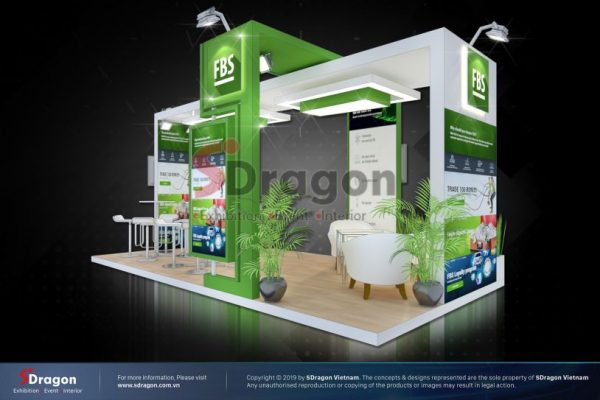 FBS exhibition booth – design & construction by SDragon at Traders Fair