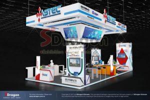 thiết kế thi công gian hàng triển lãm HVACR Việt Nam
