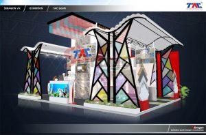 thiết kế gian hàng triển lãm ledtec asia 2020