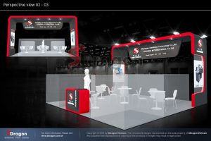 thiết kế gian hàng triển lãm VietAd