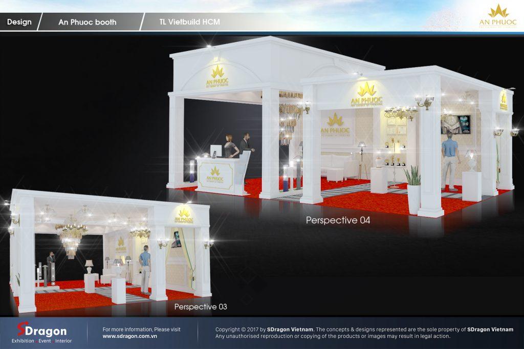 thiết kế gian hàng hội chợ chuẩn quốc tế