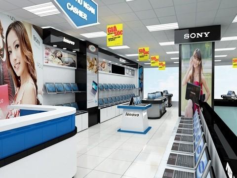 Thiết kế showroom nội thất công nghệ