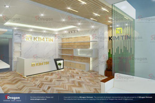 Thiết kế Thi công Showroom – Văn phòng Kim Tín